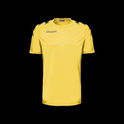 Maillot kappa jaune foot hand futsal volley castolo