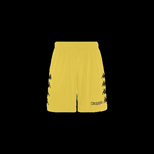 Short jaune, kappa, foot, futsal, hand, volley, curchet