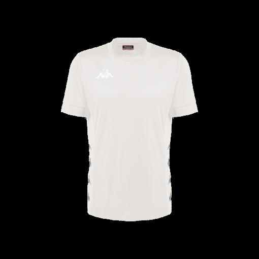 Maillot football futsal kappa, blanc, dervio