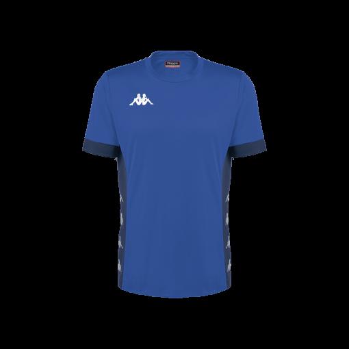 Maillot kappa dervio bleu foot futsal