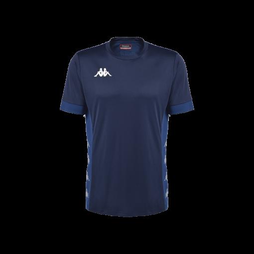 Maillot bleu marine kappa futsal foot dervio