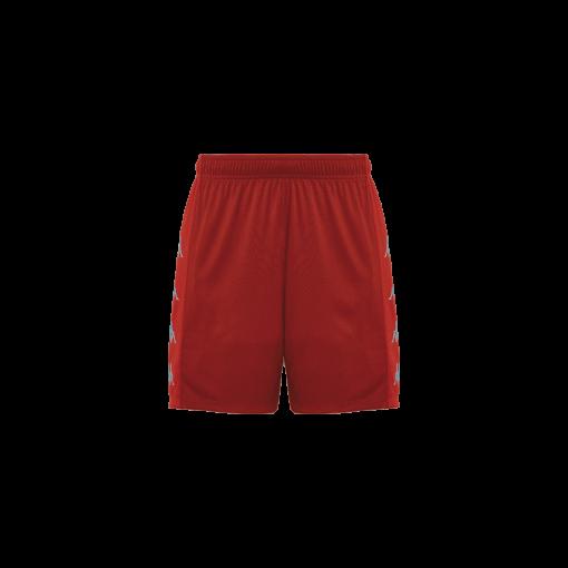 Short rouge Kappa, foot, futsal, volley, delebio