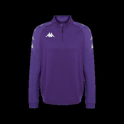 Sweat violet 1/4 zip kappa, entrainement