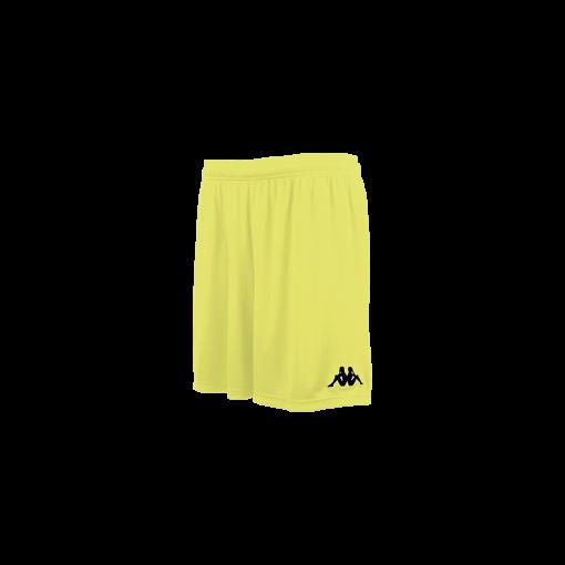 Short vareso jaune fluo kappa, foot, futsal, hand, volley, cricket
