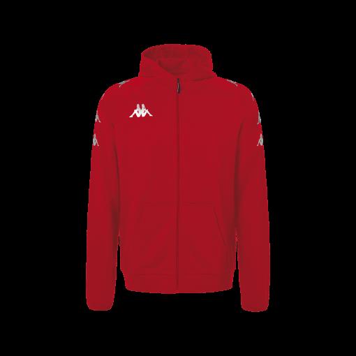 hoody rouge kappa, veste capuche, divieto, hors field, no active