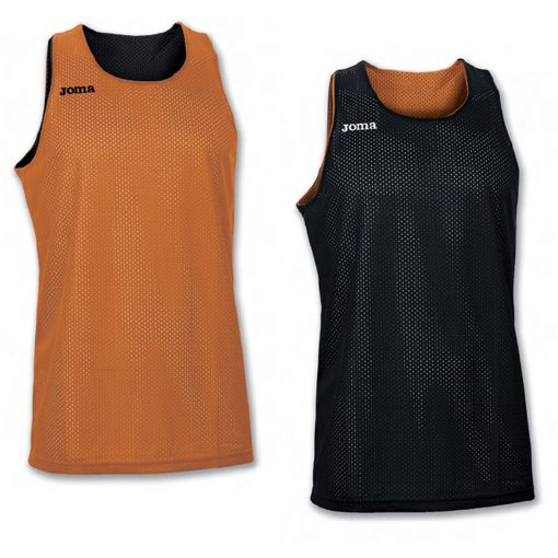 Maillot reversible basket, orange, noir, Joma