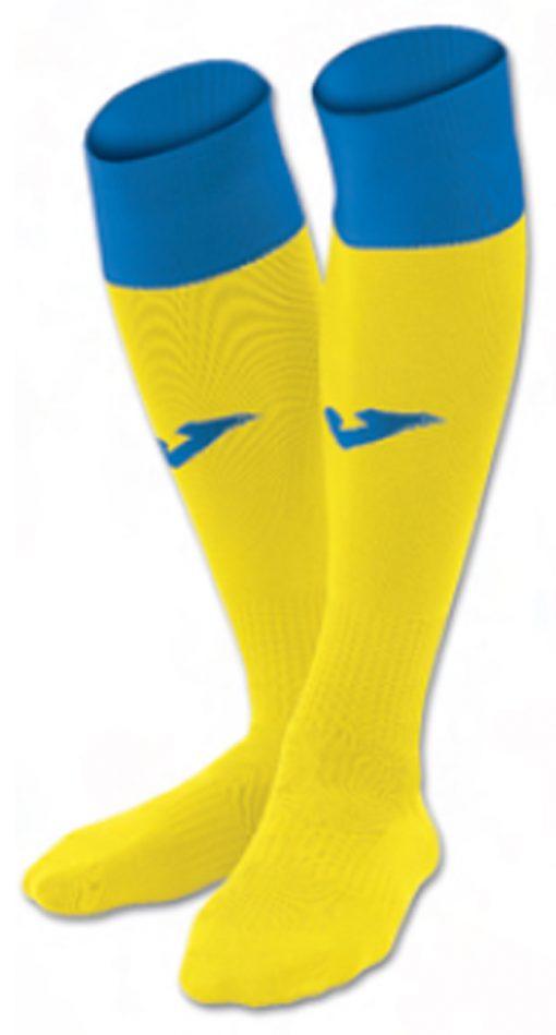 chaussettes jaune-bleu Joma, calcio 24, futsal, foot, rugby