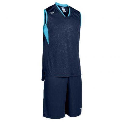 set bleu marine, turquoise, Joma, basket, campus