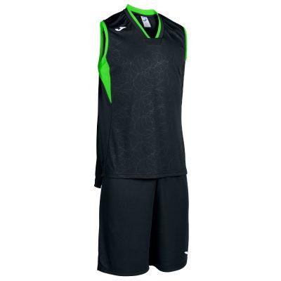 set noir vert fluo, basket, Joma, campus