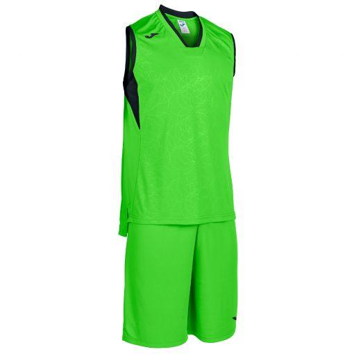 set vert fluo noir, basket, campus, Joma