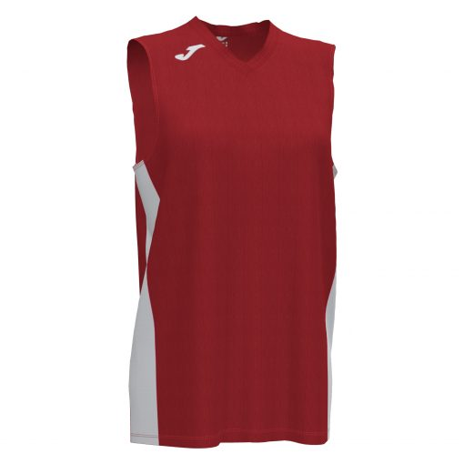 maillot sans manche basket femme, joma, cancha III, rouge