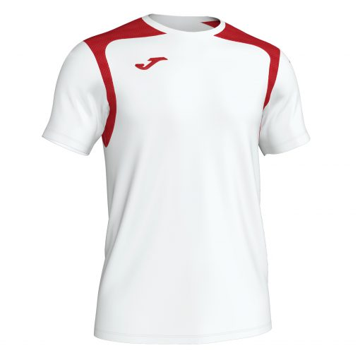 Maillot blanc rouge Joma, championship V, foot, hand, volley, futsal