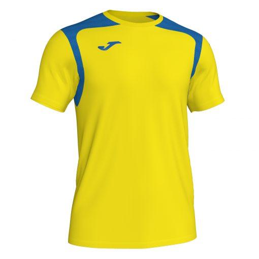 Maillot jaune bleu Joma, championship V, hand, foot, futsal, volley