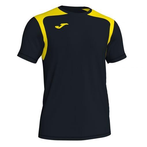 Maillot noir jaune Joma, hand, volley, foot, futsal, championship V