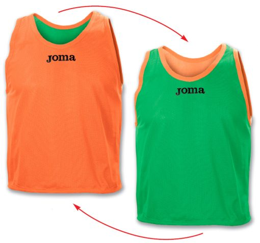 Chasuble reversible orange vert Joma