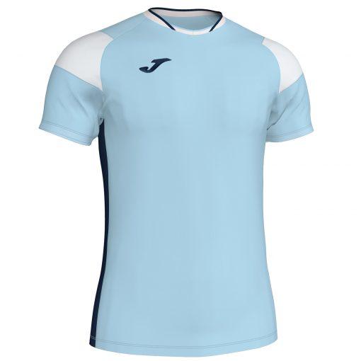Maillot bleu ciel blanc Joma, Crew III, foot, futsal, hand, volley