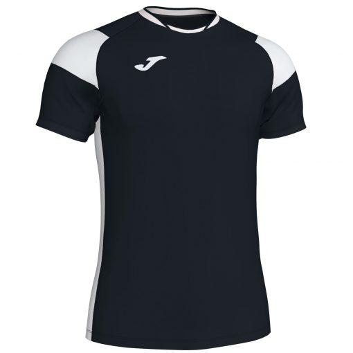 Maillot Noir Blanc Joma, Crew III, Hand, Volley, foot, futsal