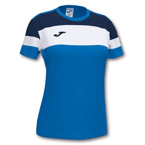 Maillot bleu, bleu marine, Joma, femme, Crew4, foot, futsal, hand, volley