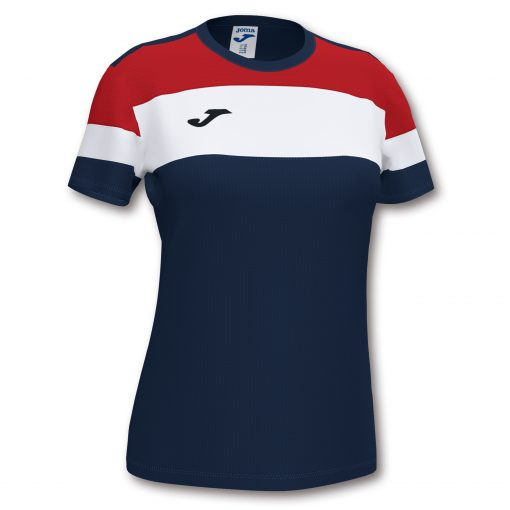 Maillot bleu marine rouge femme Joma, crew IV, foot, futsal, hand, volley