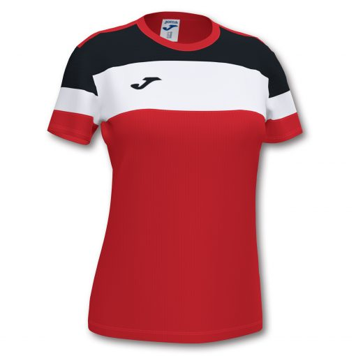Maillot rouge noir femme Joma, crew4, hand, futsal, volley, foot
