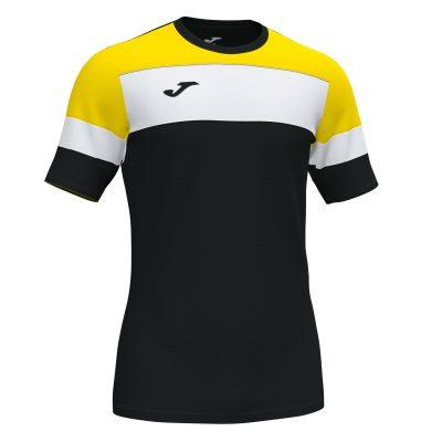 Maillot noir Jaune, futsal, hand, volley, foot, Joma, Crew 4, homme