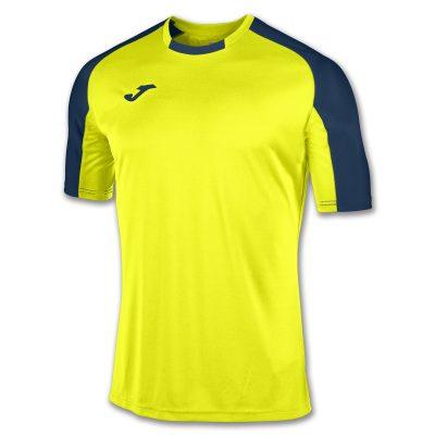 Maillot jaune bleu marine Joma, hand, foot, futsal, volley, essential