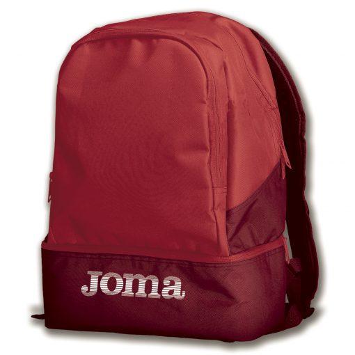 sac à dos, sac de sport, rouge, compartiment chaussures