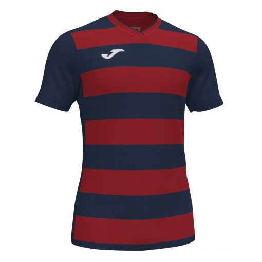 Maillot bleu marine rouge rayé, Joma, foot, futsal, hand, volley, rugby
