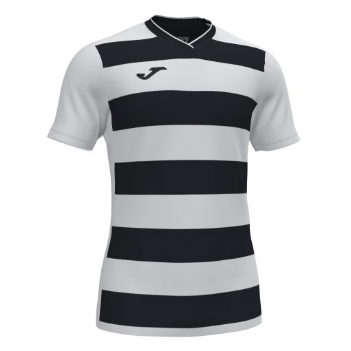 Maillot rayé blanc noir Joma, foot, futsal, hand, volley, rugby, europa IV