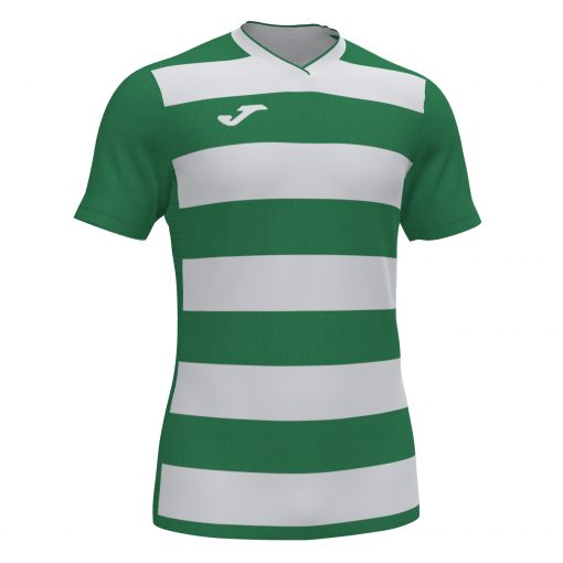 Maillot rayé vert blanc Joma, rugby, foot, futsal, hand, volley, europa IV