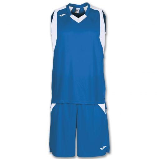 set bleu blanc basket Joma, final