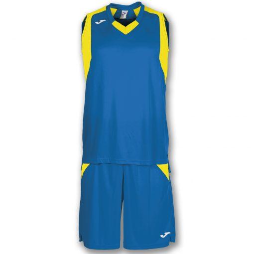 set bleu jaune, basket, joma, final