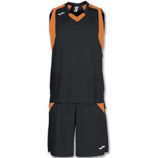 set noir orange, basket, Joma, final