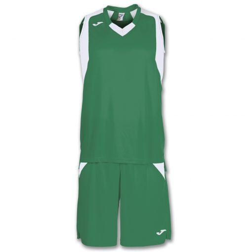 maillot short vert blanc, joma, final