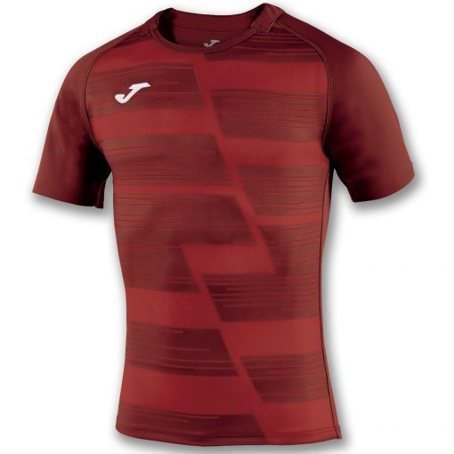 maillot rugby rouge rouge foncé, Joma, haka