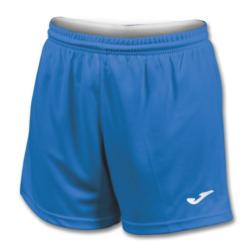 Short bleu Joma, femme, futsal, foot, cricket, hand, volley
