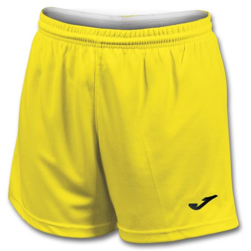 Short jaune Joma, femme, foot, futsal, hand, volley, cricket