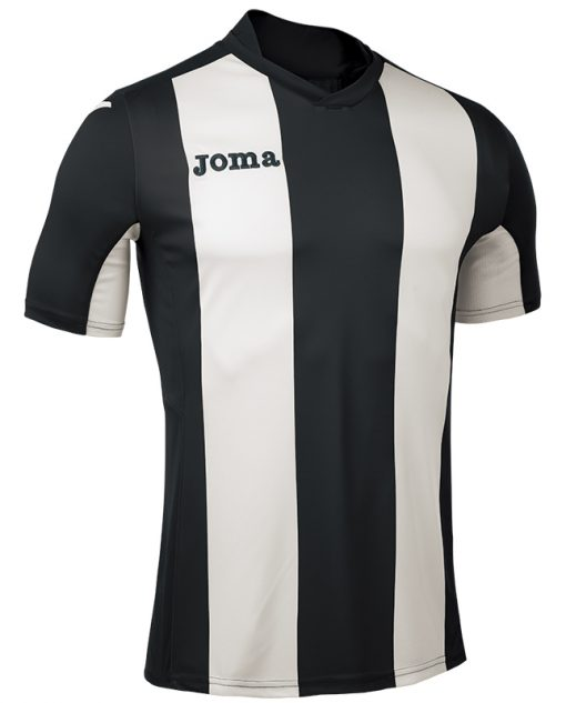 Maillot rayé noir blanc Joma, Pisa, foot, futsal, hand, volley