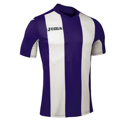 Maillot rayé violet blanc Joma, pisa, foot, hand, volley, futsal