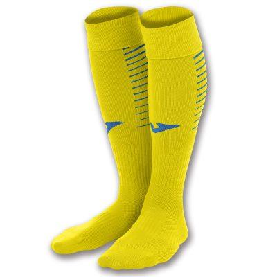 Chaussettes jaunes Joma, premier