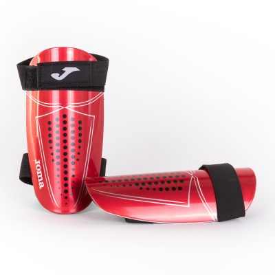 protege tibias, rouge, defense, foot, futsal