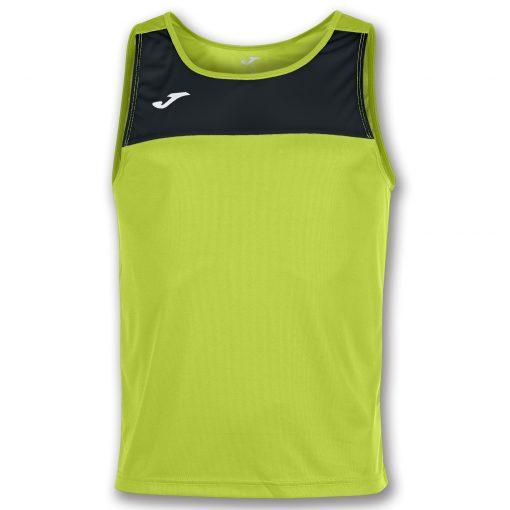 maillot lime noir, Joma, sans manche, beach soccer, beach rugby, beach tennis, beach volley, beach handball