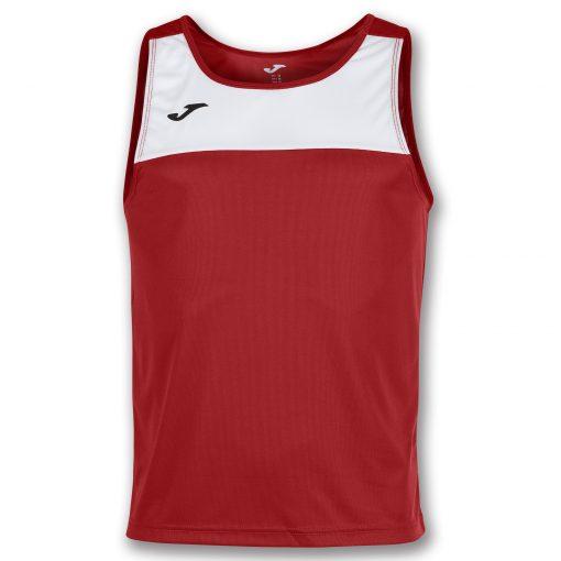 Maillot rouge blanc, beach tennis, sans manche, beach volley, beach handball, beach rugby, beach soccer, race, Joma