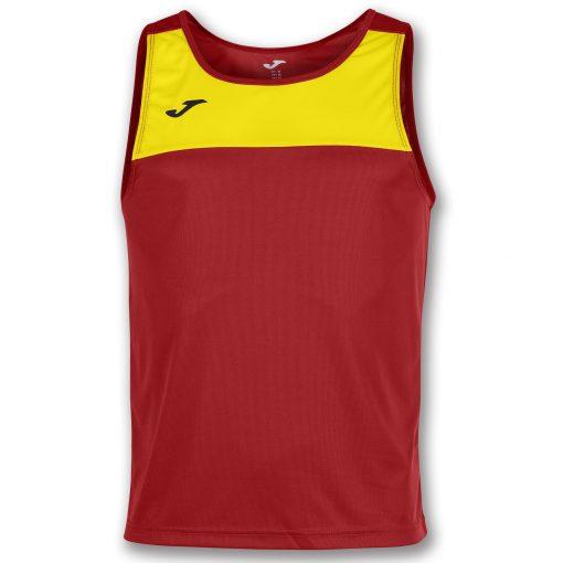 Maillot rouge jaune, Joma, sans manche, race, beach soccer, beach tennis, beach rugby, beach handball, beach volley