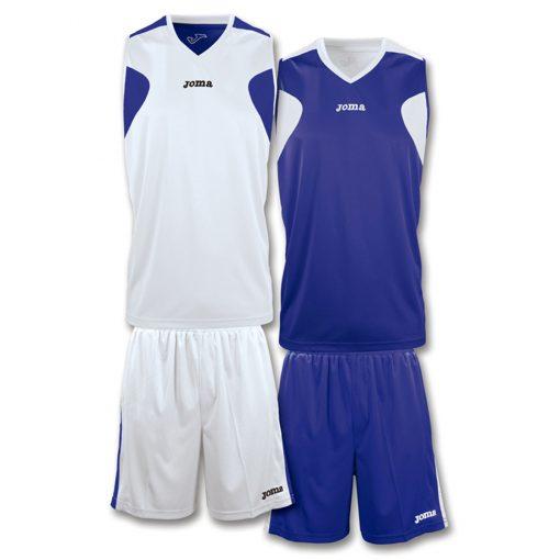 tenue basket reversible, Joma, bleu marine, blanc