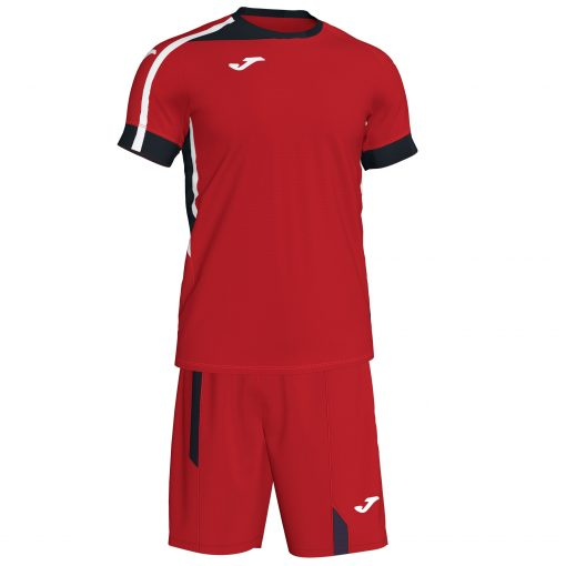 Set rouge Joma, Roma II, foot, futsal, volley, hand, maillot + short