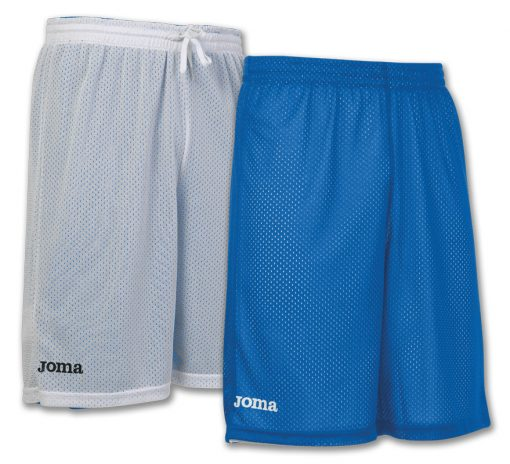 Short reversible basket bleu blanc Joma, Rookie