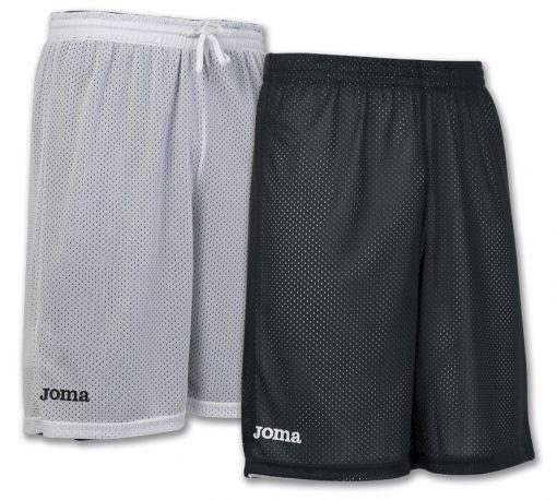 short blanc noir, reversible, rookie, basket, Joma