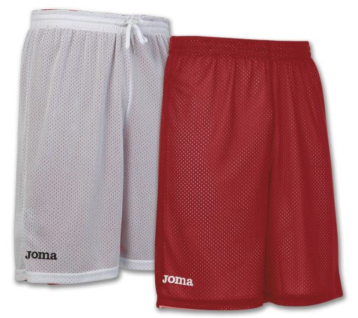 short rouge blanc, Joma, reversible, basket, rookie