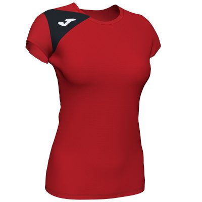 t-shirt rouge Joma, femme, spike II, foot, volley, futsal